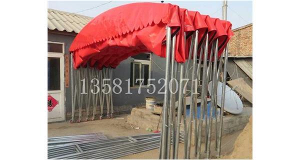北京定制推拉雨棚 推拉遮阳篷 停车棚 加大轮临时仓库篷房可来厂区参观