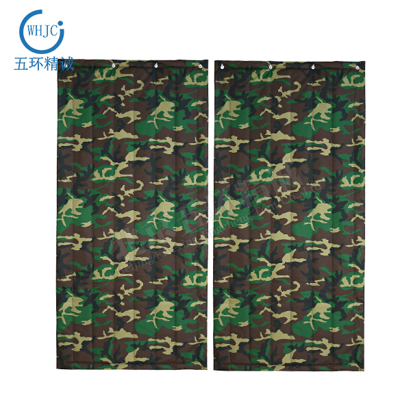 whjc119 Camouflage Oxford cloth cotton curtain